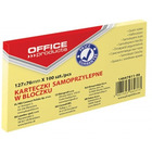 KARTECZKI OFFICE PRODUCTS 76 X 127 MM ŻÓŁTE (100)