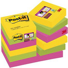 KARTECZKI POST-IT SUPER STICKY 47.6 X 47.6 MM MIX KOLORÓW