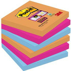 BLOCZEK SAMOPRZYLEPNY POST-IT SUPER STICKY 76 X 76 MM. 6 X 90 K. 654-6SS-EG ISKRZĄCE KOLORY
