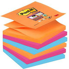 BLOCZEK SAMOPRZYLEPNY POST-IT SUPER STICKY Z-NOTES 76 X 76 MM. 6 X 90 K. R330-6SS-EG PROMIENNE KOLORY
