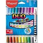 FLAMASTRY DWUSTRONNE MAPED DUO COLORPEPS 20 KOLORÓW