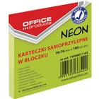 KARTECZKI OFFICE PRODUCTS 76*76mm ZIELONE (100), zielony