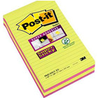 KARTECZKI POST-IT SUPER STICKY 125 X 200 MM LINIE MIX KOLOR (4 X 45)
