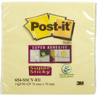 BLOCZEK POST-IT SUPER STICKY ŻÓŁTY 76 X 76 MM 654-S 90 KARTEK